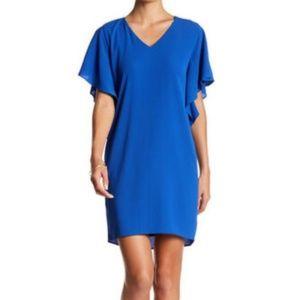 Eliza J Size 12 Crepe Split Dolman Sleeve Dress